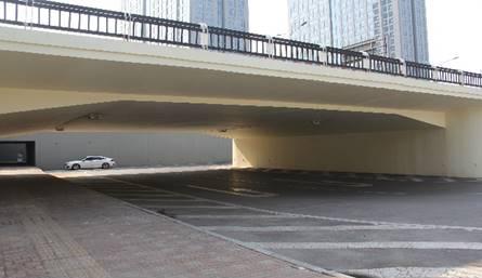 桥梁美化- 长风桥掉头车道涂装工程